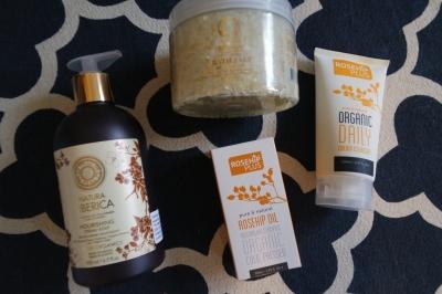 Natura Siberica- Nourishing Cream Soap and Bath Salt Rosehip Plus- Rosehip Oil and Organic Daily Cream Cleanser
